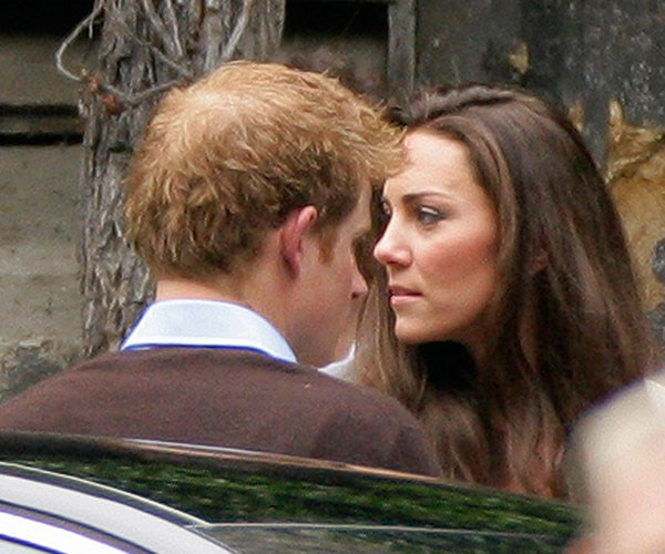 Best man Prince Harry, pictured with Kate at the wedding rehearsals, partied til 3am the night before the wedding.