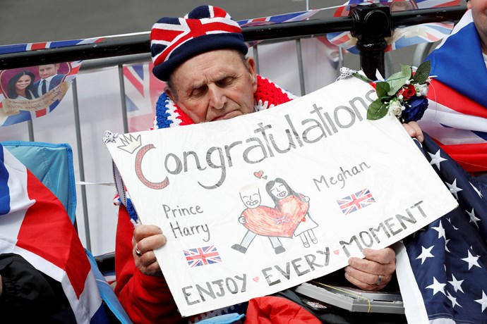 Terry Hutt has been waiting for the royal wedding since May