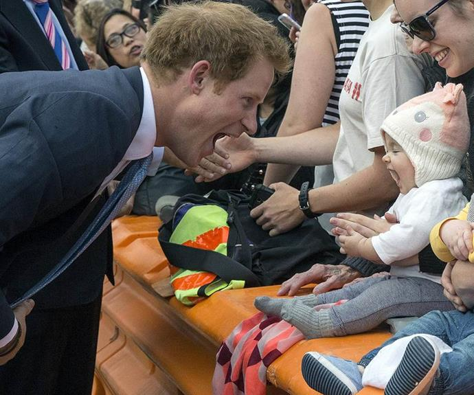 Too cute! Prince Harry has said he can't wait to become a dad.