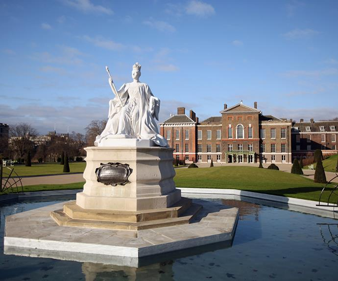 Today, there's a statue of Queen Victoria in the Kensington Palace grounds.