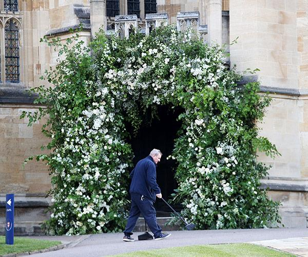 The floral entrance is simply stunning.