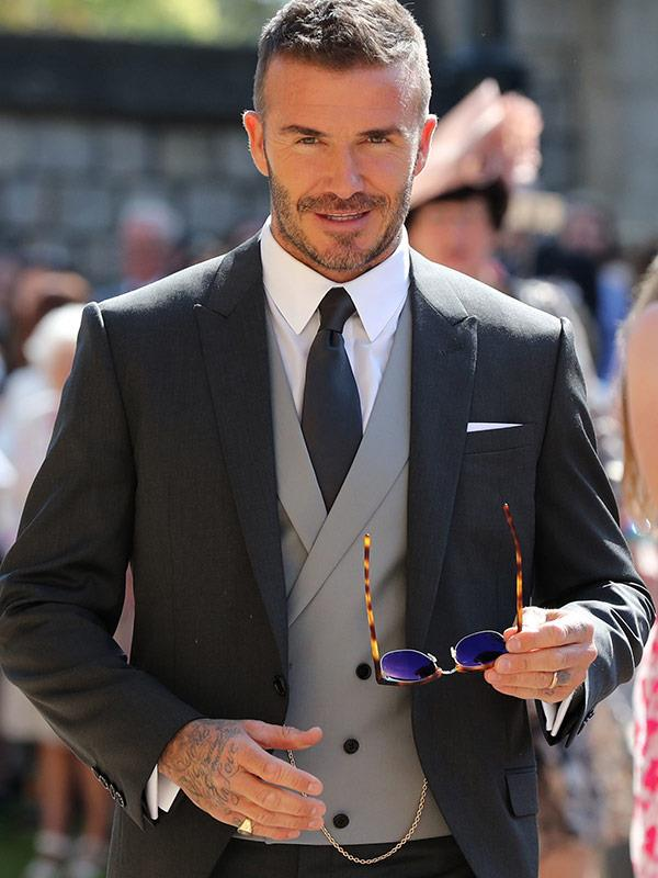 Is this an ad campaign or David Beckham in action at the Royal Wedding? You be the judge.