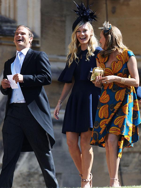 Chelsy Davy attends the royal wedding with fellow guests.