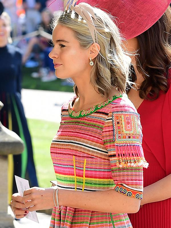 Not wanting to shrink into the background! Cressida opted for a vibrant, printed dress.