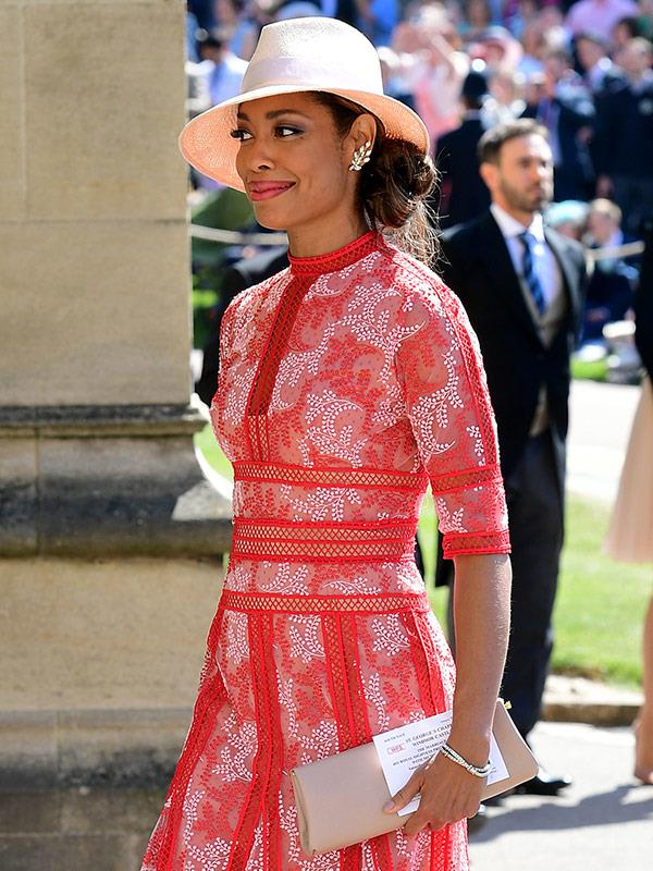 Gina Torres arrives for the wedding ceremony
