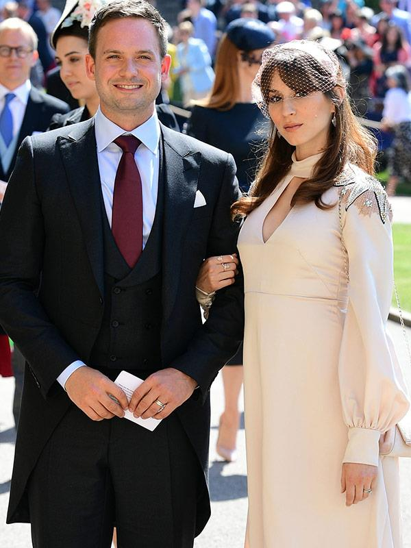 Patrick J. Adams and wife Troian Bellisario