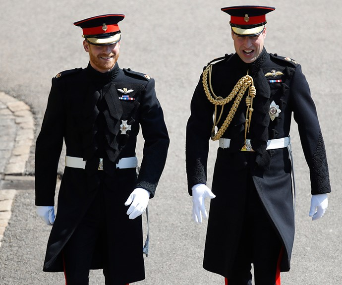 Both Prince Harry and Prince William wore the frockcoat uniform in the Blues and Royals.