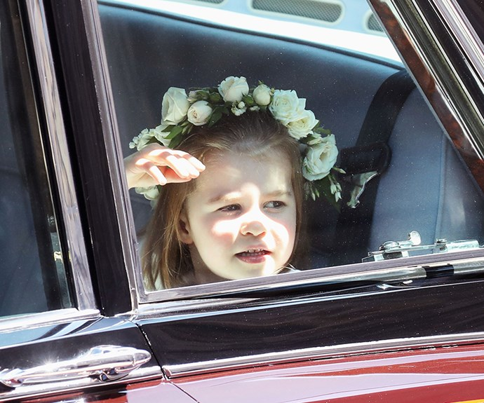 Princess Charlotte looks out to the crowd.