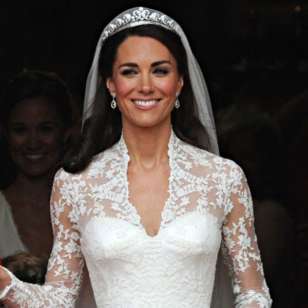 Kate Middleton wore the Cartier Halo tiara when she married Prince William in 2011.