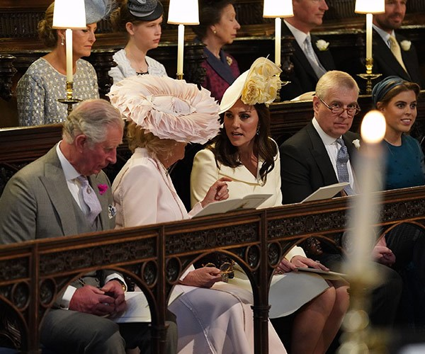 Prince Charles sat with his wife and daughter-in-law Kate.