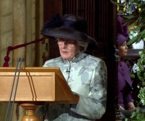 Lady Jane's powerful reading at her nephew Prince Harry's wedding was a full circle moment.