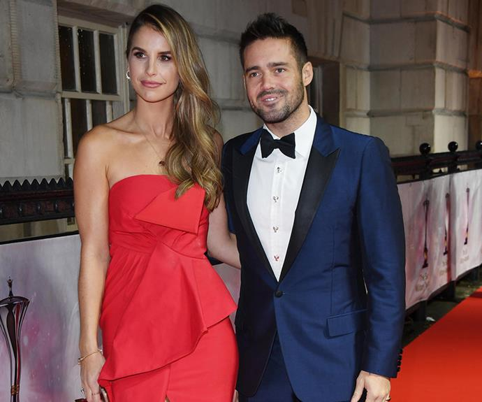 Spencer Matthews and fiancée Vogue Williams are expecting their first child together.
