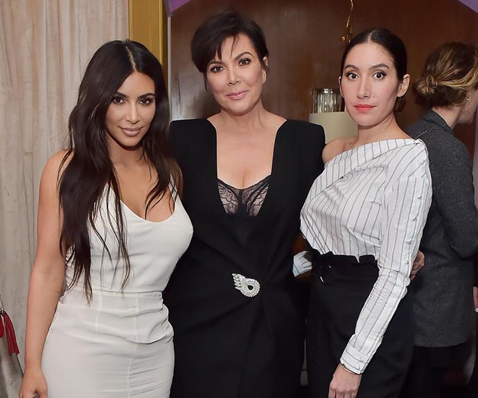 Jen Atkin (right) with Kim Kardashian and Kris Jenner.