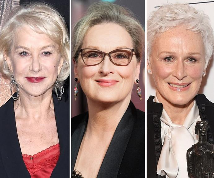 These celebs have embraced their grey hair, but take note: there's not a weak, frizzy, brittle strand in sight! Jen suggests doing a weekly hair mask as well as talking to your GP and a naturopath to see if supplements loaded with ashwagandha extract and niacin are right for you.
