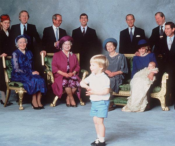 The gilded mahogany piece of furniture was used at Prince Harry's christening  in 1983.