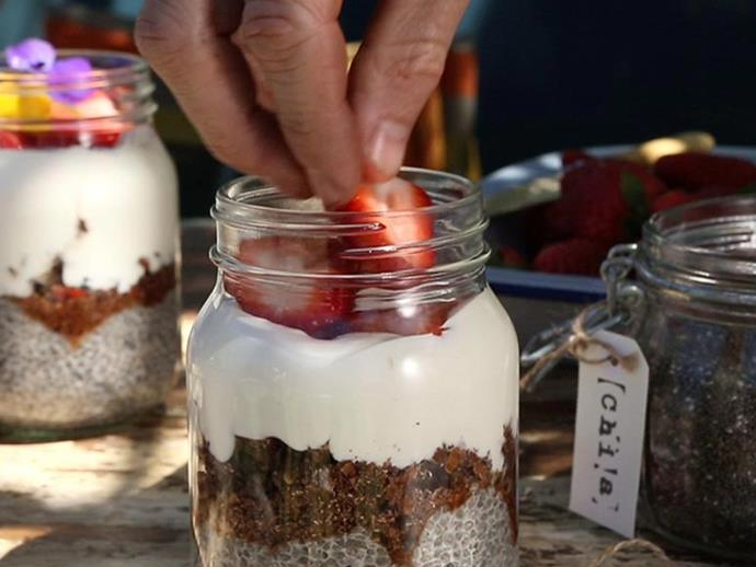 """**[Chia pots](http://www.foodtolove.com.au/recipes/chia-pots-34807