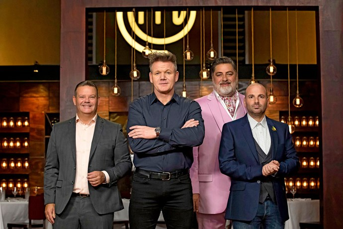 Gordon filmed a week's worth of *MasterChef Australia* episodes with judges Gary Mehigan, Matt Preston and George Calombaris.