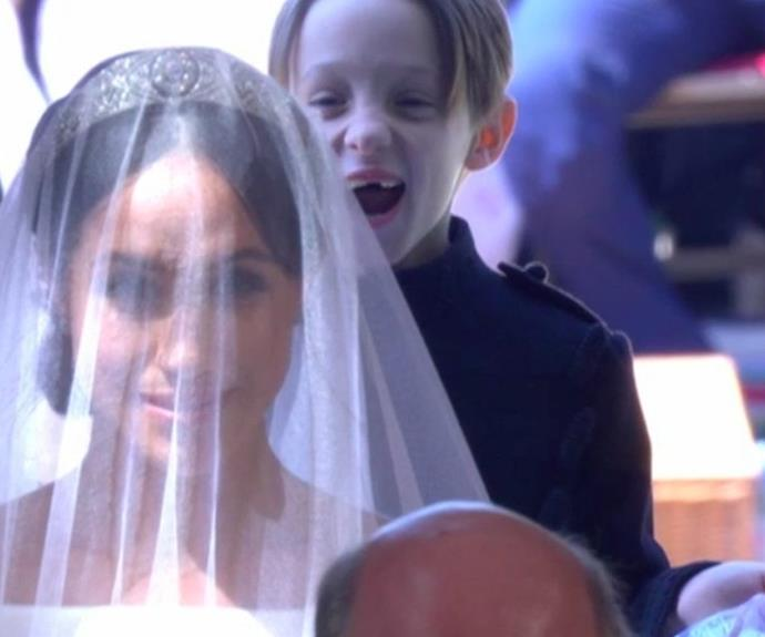 Jessica's son, seven-year-old Brian and his awestruck, gap-toothed expression quickly became a favourite moment of the 2018 Royal Wedding.