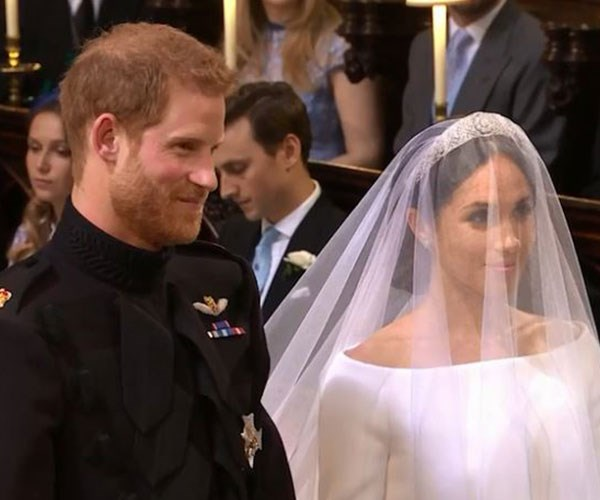 Babies on the brain: Prince Harry's face when the minister mentioned kids!