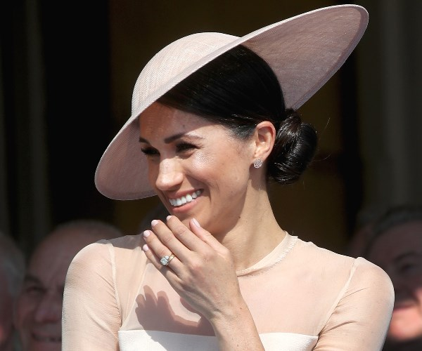 During her new-husband's speech, the duchess suffered a fit of giggles.