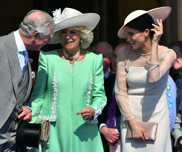 She shared the funny moment with her new in-laws -- Charles and his wife Camilla, the Duchess of Cornwall.