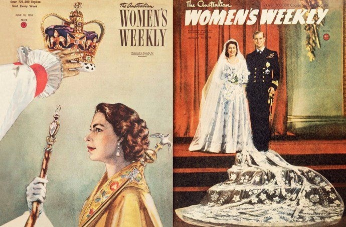 There are two sets of vintage royal postcards to collect. The first set features *The Weekly's* covers from June 10, 1953 and January 10, 1948.