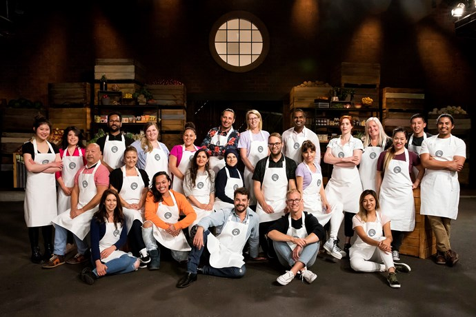 Brendan, top right, had the support of his fellow *MasterChef Australia* contestants.