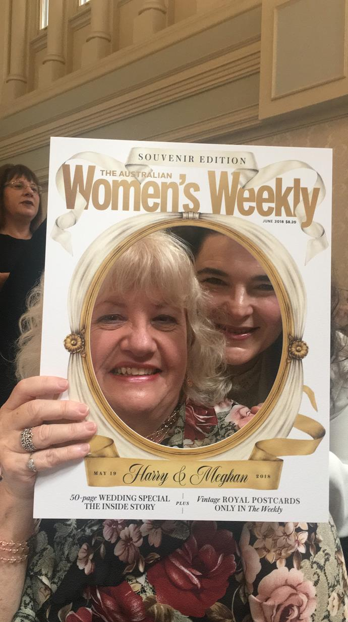 "Friends Wendy and Luisa say, ""We love a high tea but today is really special because we've been Women's Weekly fans all our lives, right back to our grandparents' days."""
