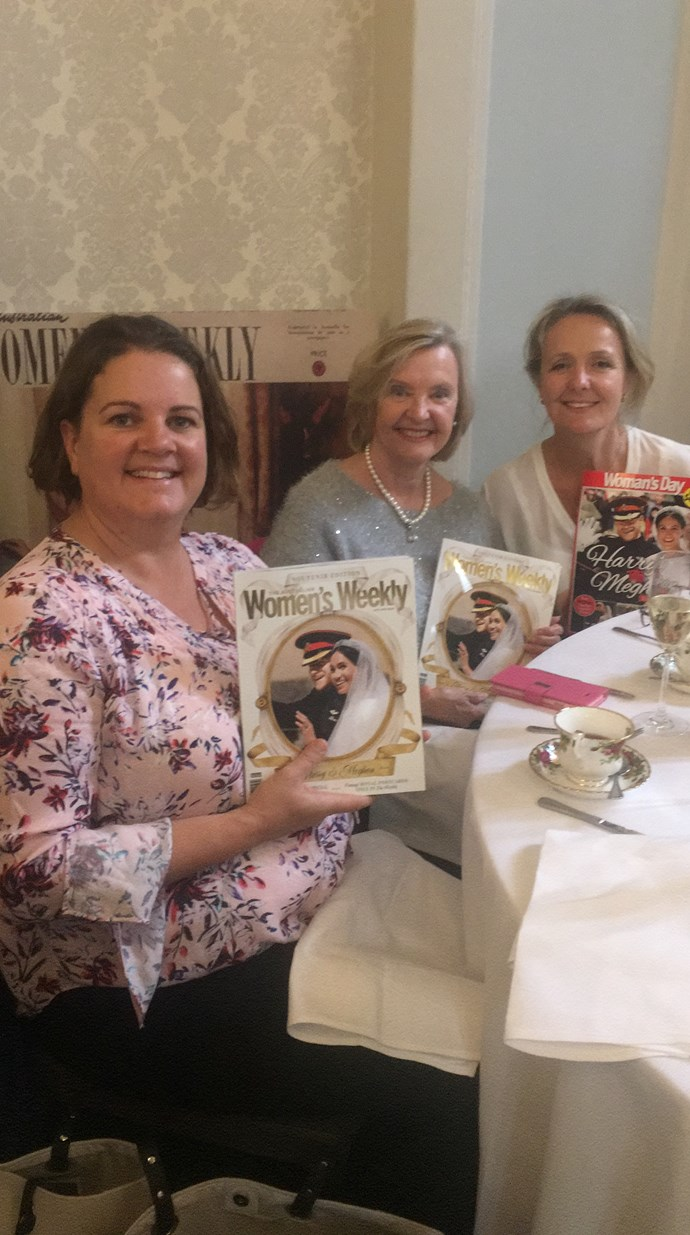 Kerry Walker, Sandra Chatterton and Anne Buckland with their souvenir editions.