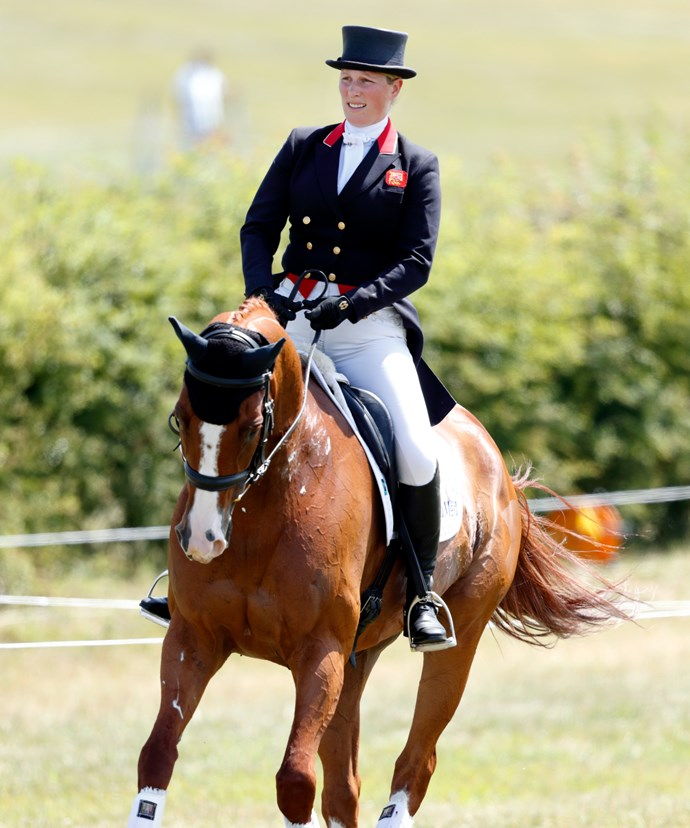 Zara, who has competed in the Olympics for equestrian, has lent the young prince a Shetland pony for his lessons.