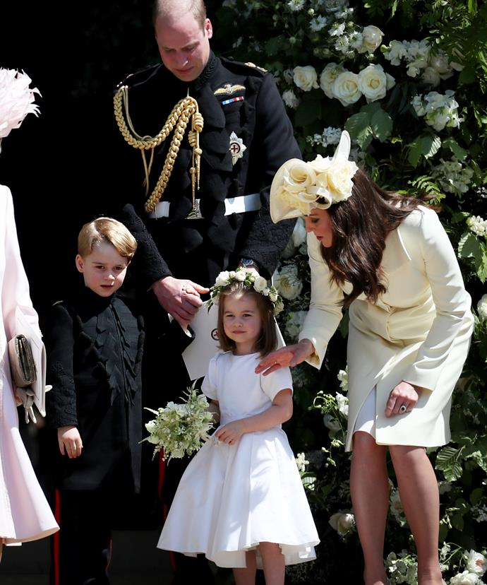 Kate, William, George and Charlotte were recently pictured together at the royal wedding.