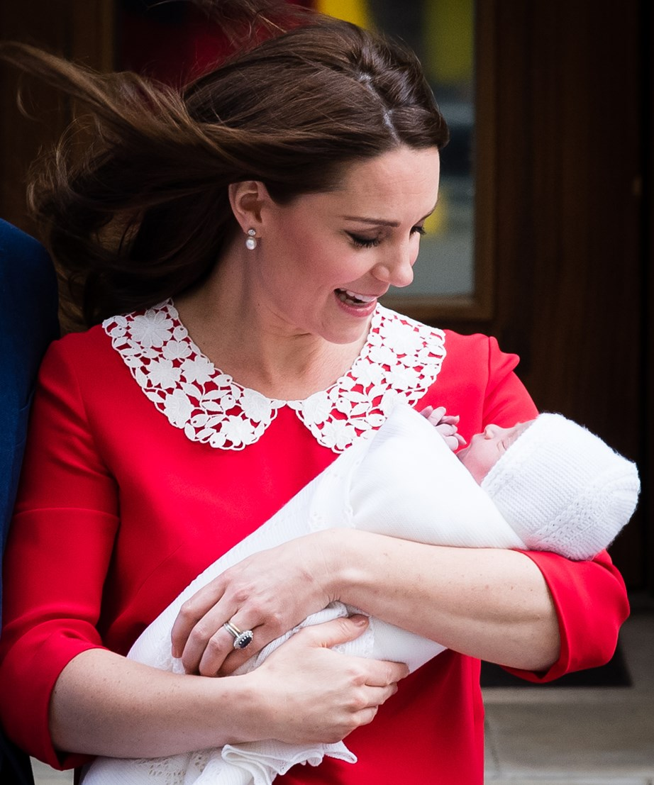 The Duchess, 36, was last pictured with newborn Prince Louis just hours after his birth.