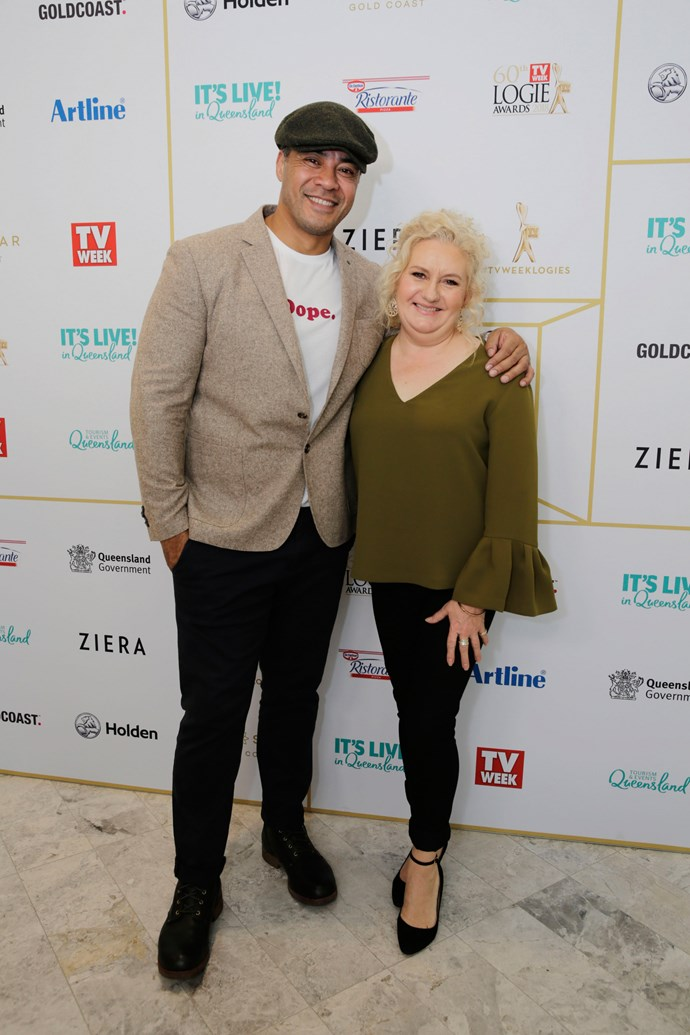 *Wentworth's* Robbie Magasiva and Celia Ireland.