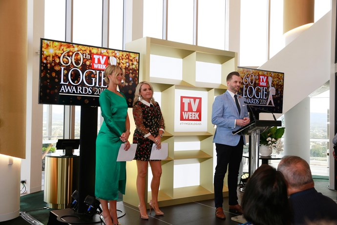 ***TV WEEK*** Editor Thomas Woodgate introduces hosts, Sylvia Jeffreys and Angela Bishop.