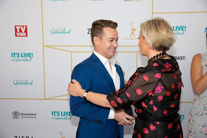 Grant Denyer and Amanda Keller celebrate their Gold Logie nominations.