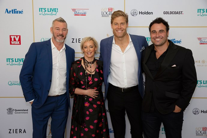 *The Living Room's*  Barry Du Bois, Amanda Keller, Chris Brown, and Miguel Maestre.