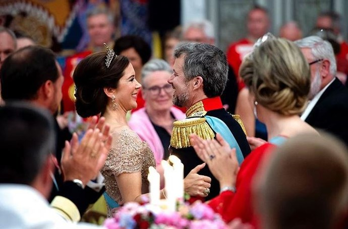 """ I'm happy that you swept my legs away from me and that we dared to fall apart - not for a while but for life,"" Her Royal Highness The Crown Princess Mary shares her admiration of the birthday boy."