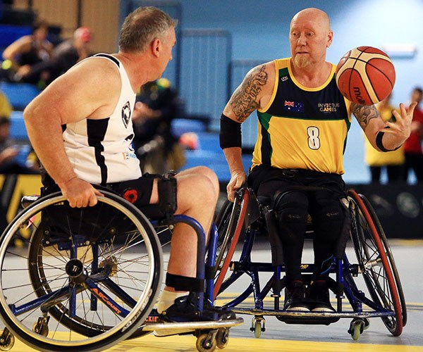 The veteran has represented Australia in two wheelchair sports, including basketball and rugby.