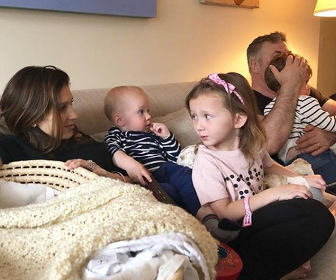 Home sweet home, to a family of sick kids twins: Rafael Thomas, two, and Leonardo Ángel Charles, one, both had the flu and daughter Carmen, four, was diagnosed with pink eye.