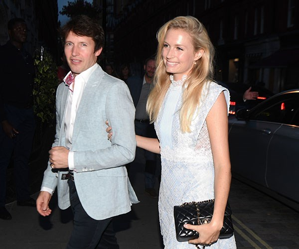 Singer James Blunt was joined by his wife Sofia Wellesley for the VIP do.