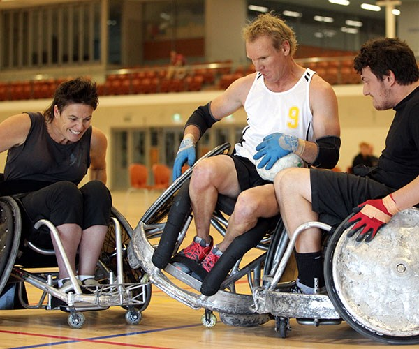 I love being able to play wheelchair rugby.