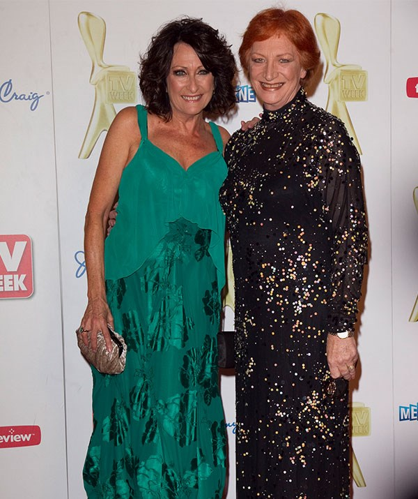 *Home and Away*'s Lynne McGranger with Cornelia at the 2011 TV Week Logie Awards.