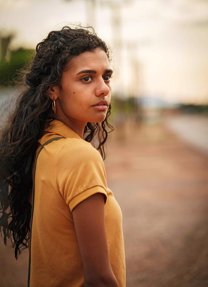 *Picnic At Hanging Rock's* Madeleine Madden has turned in another superb performance, as Jay's daughter in *Mystery Road.*