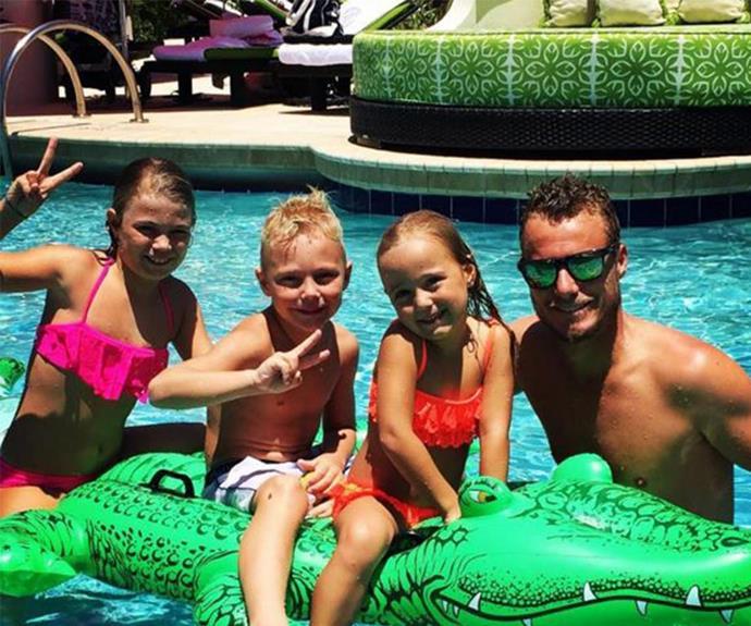 Lleyton with Mia, Cruz and Ava.