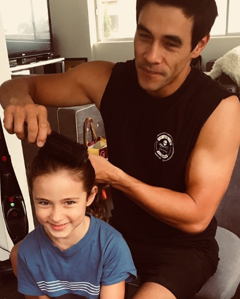 "On International Women's Day last year, James shared a photo of himself brushing Scout's hair.  ""Grooming the leaders of tomorrow..."" he wrote. ""Happy International Woman's Day! Love ya Scout, Love ya Mum!"""