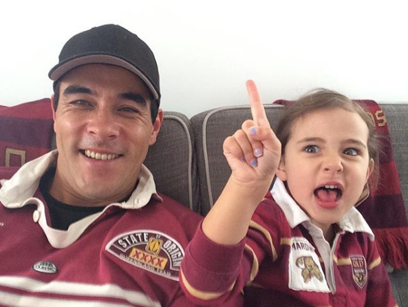 James recruited a new Queensland supporter for the State Of Origin in 2017.
