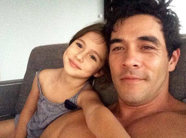 """My little Princess,"" James penned alongside this selfie."