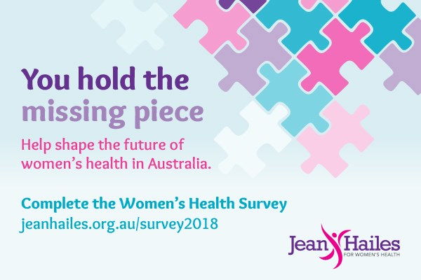 Jean Hailes 2018 Women's Health Survey