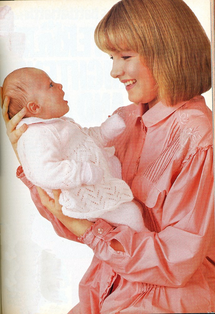Roo gave birth to a baby girl, Martha, in the early days of *Home and Away.*