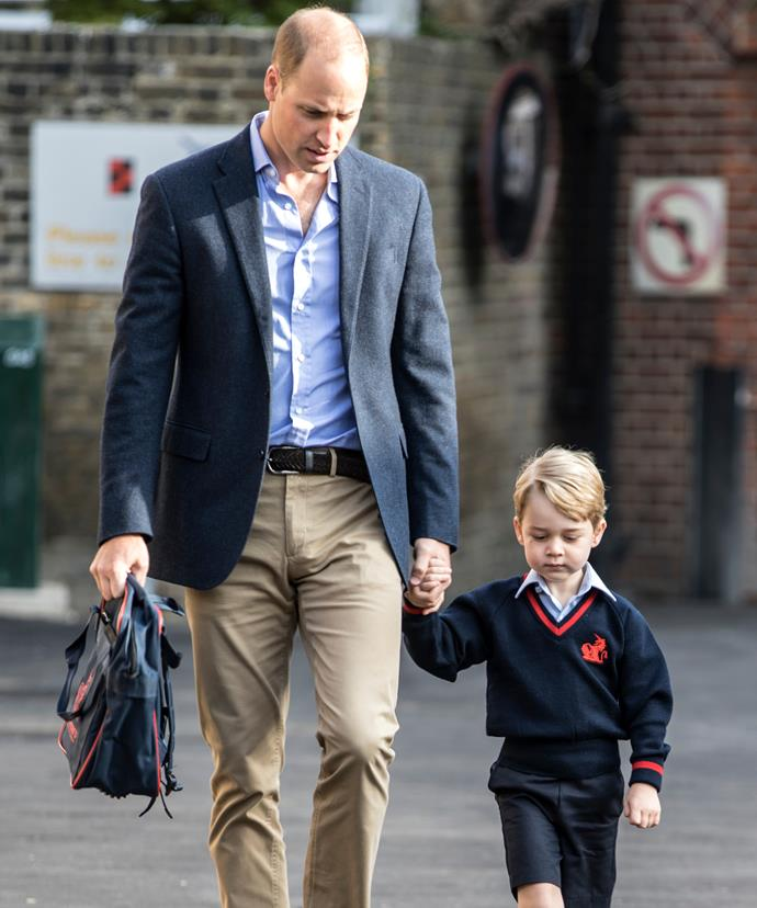 George, four, started his schooling career late last year.